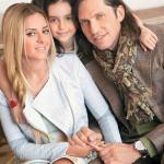 Супруги Ревва со старшей дочкой Алисой