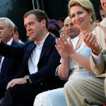Дмитрий и Светлана Медведевы