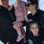 Ксения с мужем и детьми