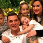 Ксения Бородина празднует новый год с семьей
