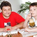 Михаил Полицеймако с сыном