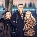 Михайловский с семьей