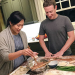 Присцилла с мужем готовят ужин
