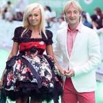 С супругом Евгением Плющенко