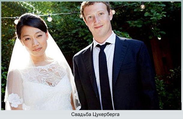 Бракосочетание Марка Цукербер с Присциллой Чан