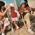 Адриано с женой и дочкой на отдыхе