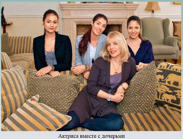 Актриса вместе с дочерьми