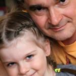 Александр Жигалкин с дочкой Таисией