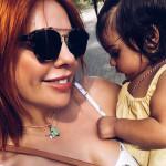 С маленькой дочкой Верой