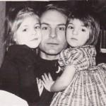 Анна и Маша с папой