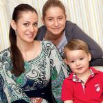 Анна со своими детьми
