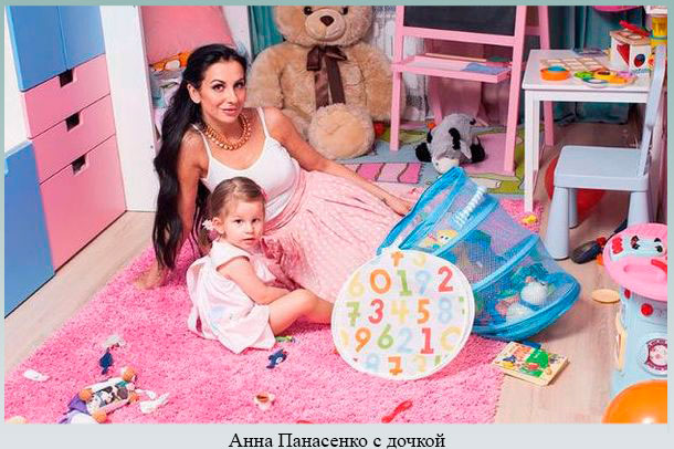 Анна Панасенко с дочкой