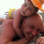С Владой на пляже