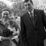 Галина с мужем на олимпиаде 1980 года
