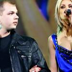 На сцене с партнером Алексеем Брянцевым