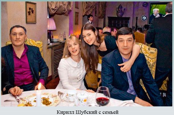 Кирилл Шубский с семьей