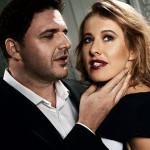 Ксения со вторым мужем