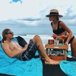 На отдыхе с мужем Кириллом