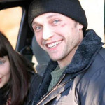 Наталия Антонова и Никита Тюнин на съемках сериала «Строптивая мишень»