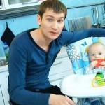 Наумов с маленьким сыном