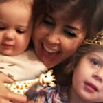 С дочками Музой и Айрис