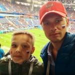 С сыном Даниэлем