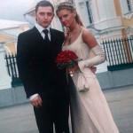 Редкое фото со свадьбы Ромы и Марины