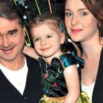 Антонова с мужем и дочкой