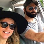 Селфи с мужем в машине