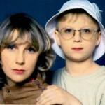 Актриса с сыном Денисом в молодости