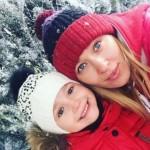 Александра с мамой