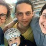 Алена Бабенко с семьей сына