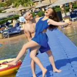 Екатерина с мужем на море
