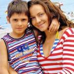 С сыном на море (2007 год)