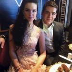 Екатерина Воробьева с мужем