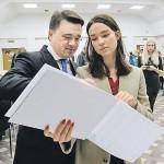 Екатерина Воробьева с отцом