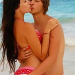 С мужем на пляже