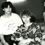 Елена (справа) на занятиях в спортшколе