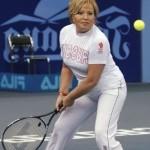 На теннисном корте