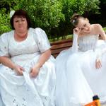 В свадебном платье на юмористической программе