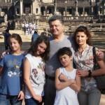 Петр Порошенко с детьми и женой