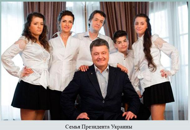 Семья Президента Украины