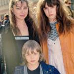 Первая жена певца Татьяна Артемьева с детьми
