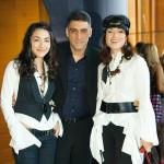 Тигран Кеосаян с женой дочерью