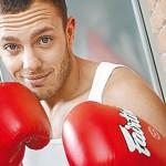 На занятиях боксом