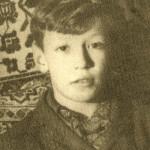 Владимир Кузьмин в детстве (1965 год)
