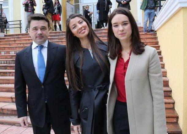 Воробьев с женой и дочкой Екатериной