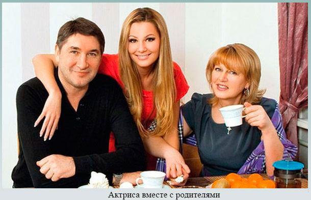 Актриса вместе с родителями