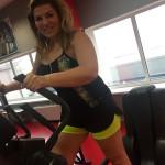 Екатерина Скулина в фитнес-клубе