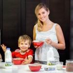 На кухне с сыном